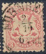 Stamp Bavaria 1870-72 3kr Used Lot#43 - Bavaria