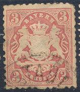Stamp Bavaria 1870-72 3kr Used Lot#44 - Bavaria