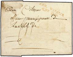 ITALIA. 1797. FELTRE A FRANCIA. MARCA ARM. D'ITALIE/ 6me Don. - Marcofilia (sobres)