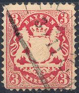 Stamp Bavaria 1870-72 3kr Used Lot#48 - Bavaria