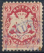 Stamp Bavaria 1870-72 3kr Used Lot#50 - Bavaria