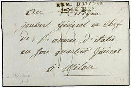 ITALIA. 1798. MANTOVA A MILAN. MARCA ARM. D'ITALIE/ 15me Don. - Marcofilia (sobres)