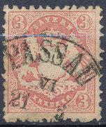 Stamp Bavaria 1870-72 3kr Used Lot#53 - Bavaria