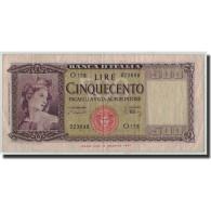 Italie, 500 Lire, 1947, KM:80a, 1947-08-14, TB - [ 2] 1946-… : République