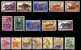 Congo Petit LOT (o)  Animaux Et Fleurs - Congo Belge