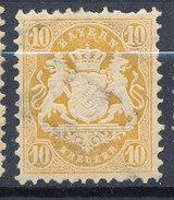 Stamp Bavaria 1870-72 10kr Used Lot#58 - Bavaria