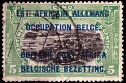 Ruanda 0028 B (o) 5c Vert Dent T15 - Ruanda-Urundi