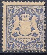 Stamp Bavaria 1870-75? 7kr Mint Lot#70 - Bavaria