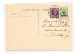 Luxembourg Carte Postale No. 81 Bettembourg A Dudelange 26-3-1927 - Stamped Stationery