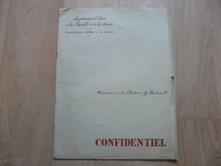 Lot12 - Document Ancien Cabinet Du Maréchal Pétain Adressé Aux Médecins - Documenti Storici