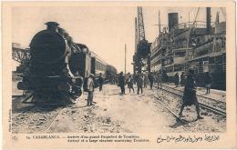 *** MAROC ***  CASABLANCA  Arrivée D'un Grand Paquebot De Touristes   - TTB Neuve - Casablanca