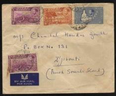 Ethiopia  Multifranked Envelope To French Somali Land  #  03757  D - Ethiopia