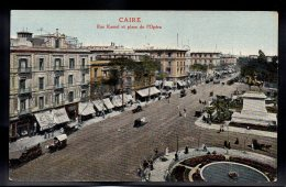 EGYPTE - CAIRE - Rue Kamel Et Place De L'Opéra - Le Caire
