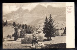 ITALIE - Kirche In Karersee Mit Rosen-Garten - Italia