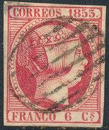 Stamp Spain 1853 6c Used - 1850-68 Kingdom: Isabella II