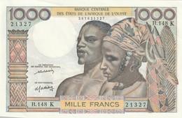 Billet De 1000 Francs De La Banque Centrale Des Etats De L'afrique De L'ouest Neuf Lettre K - Billets