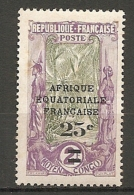 CONGO -  Yv. N° 89  *   25c S 2f, Papier Couché  Cote 1,3 Euros  BE R 2 Scans - Congo Français (1891-1960)