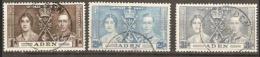 Aden 1937  SG 13-5  Coronation Fine Used - Aden (1854-1963)