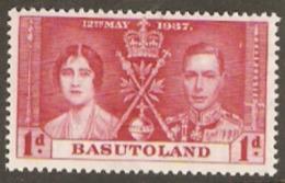 Basutoland  1937 SG  15  1d Coronation  Unmounted Mint - 1933-1964 Colonia Britannica