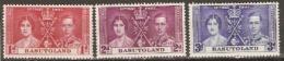 Basutoland  1937 SG  15-17  Coronation  Unmounted Mint - 1933-1964 Crown Colony
