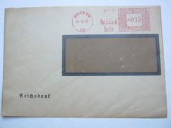 1931  ,  Berlin   , Glasklarer Firmen - Freistempel  Auf   Brief - Deutschland
