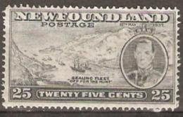 Newfoundland  1937 SG 266 25c  Unmounted Mint - 1908-1947