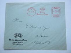 1938  ,  Berlin   , Glasklarer Firmen - Freistempel  Auf   Brief - Deutschland