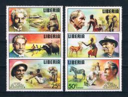 Liberia 1975 Nobelpreis Mi.Nr. 960/65 Kpl. Satz ** - Liberia