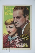 1937 Cinema/ Movie Advertising Leaflet - I Met Him In Paris - Claudette Colbert,  Melvyn Douglas,  Robert Young - Publicité Cinématographique