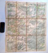 CARTE D ETAT MAJOR 57/3 Entoilée Situation 1871 FROIDCHAPELLE CERFONTAINE FOURBECHIES PIERRAILLE FALEMPRISE S864 - Froidchapelle