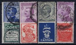 Italy: 4 X  Publicitari Obl./Gestempelt/used - 1900-44 Vittorio Emanuele III