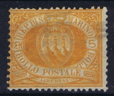 San Marino Mi Nr 6 Not Used (*) SG   Has A Small Thin. - San Marino