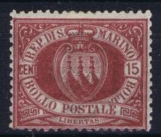 San Marino Mi Nr 15 MH/* Flz/ Charniere - Saint-Marin