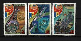 SOWJETUNION - Mi-Nr. 5071 - 5073 Interkosmosprogramm: Gemeinsamer Weltraumflug UdSSR-Rumänien Postfrisch - 1923-1991 UdSSR
