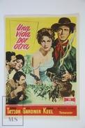 1953 Cinema/ Movie Advertising Leaflet - Ride Vaquero! - Robert Taylor,  Ava Gardner,  Howard Keel - Werbetrailer