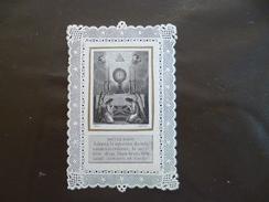 Religion Canivet 19ème Dentelle Prière Lejeune Paris Réflexion 5.9 X 9.4 - Images Religieuses