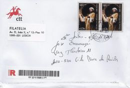 TIMBRES - STAMPS - LETTRE RECOMMANDÉ- PORTUGAL - 2013 - CÂNONE DE AVICENA -ABÚ ALI AL-HUSAIN ÀBD ALLÁH IBN SINÁ -AVICENA - 1910-... République