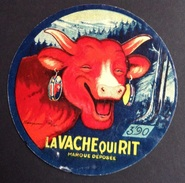 étiquette Fromage Ancienne Vache Qui Rit Benjamin  Rabier étiquette Prix 3 Francs 90 - Cheese
