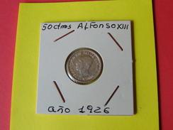 50 Centimos Alfonsox|||1 Año 1926 Pcs - España