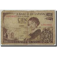 Espagne, 100 Pesetas, 1965, KM:150, 1965-11-19, AB+ - [ 3] 1936-1975 : Regency Of Franco