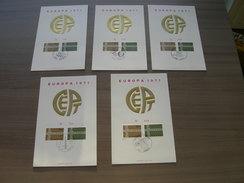 BELG.1971 1578-79 5 Genummerde Echophil Eerstedagkaarten - 1971-80