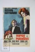 1963 Cinema/ Movie Advertising Leaflet - Stolen Hours - Susan Hayward,  Michael Craig,  Diane Baker - Publicité Cinématographique