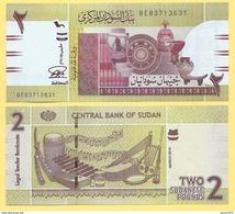 Sudan 2 Pounds 2015 UNC - Sudan