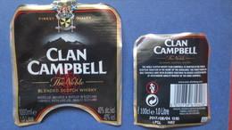 Etiquette CLAN CAMPBELL. 1 Litre (Scans) - Whisky