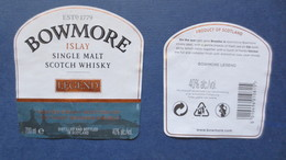 Etiquette BOWMORE (Scans) - Whisky