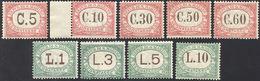 3557 1924 - Seconda Emissione (10/18), Gomma Originale Integra, Perfetti. Cert. Diena Per Il 10 Lire.... - Segnatasse