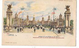 Carte à Système METEOR - EXPOSITION UNIVERSELLE 1900 - PARIS -ESPLANADE DES INVALIDES Tenir La Carte Vers Le Jour N° 675 - Tegenlichtkaarten, Hold To Light