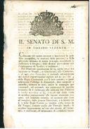 SENATO 1800 PIEMONTE SAVOIA PROVVEDIMENTI CONTRO BANDITISMO MALFATTORI CRIMINALI - Decreti & Leggi