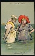 BLANKENBERGE 13 - 7- 1903  - DEUX COEURS ET ... LA MER :: RELIEF - GAUFREE - Blankenberge