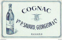 BUVARD Publicitaire COGNAC Vve P. SAVARD, GEORGEON & C° - Liqueur & Bière
